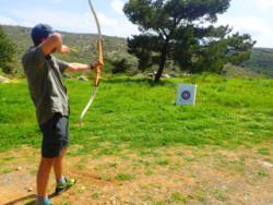 Boogschieten op Kreta Griekenland